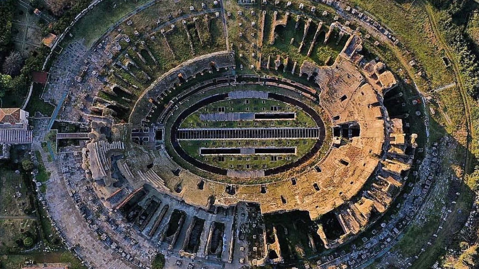 L'Anfiteatro campano di Capua, in Italia