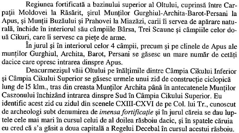 01_Razboaiele lui Traian - Localizarea celei de-a doua capitale