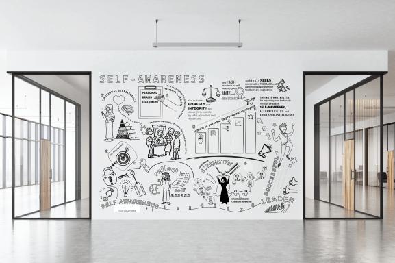 iSTORYa Studio Wall Art Office Mural