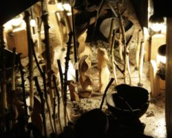 Istvan Seidel,Künstler als Gestalter der Welt, Schaufensterinstallation mit Licht im BBKrium