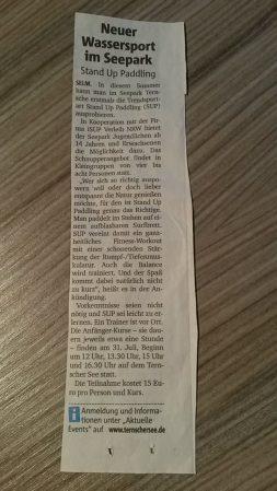 SUP Ternschersee Selm