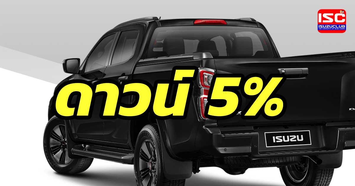 isuzu d max 5 percent down payment