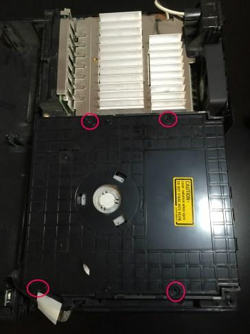 ps2 dvd drive remove