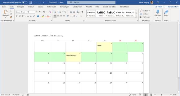 SmartTools Kalender-Assistent 2021