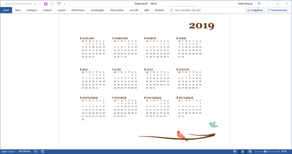 Microsoft Veröffentlicht Kalender 2019 Vorlagen It Bloggernet