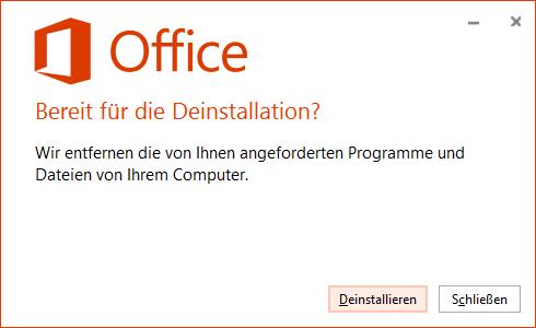 Office 2019 entfernen