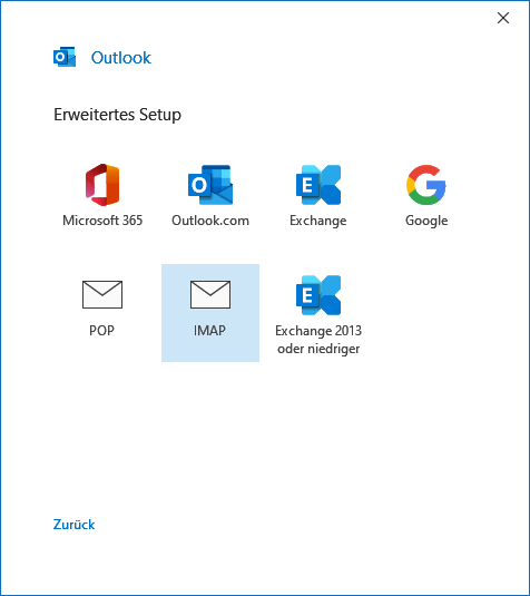Outlook.com E-Mail-Konto in Outlook 2019 hinzufügen