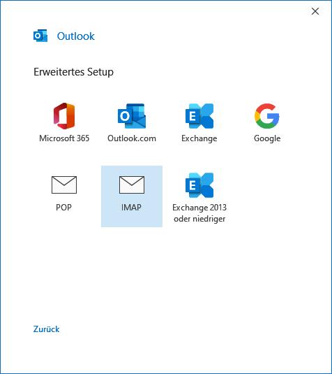 Outlook.com E-Mail-Konto in Outlook 2019 hinzufügen
