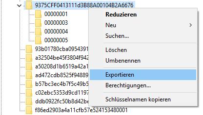Outlook 2019 E-Mail-Konten exportieren