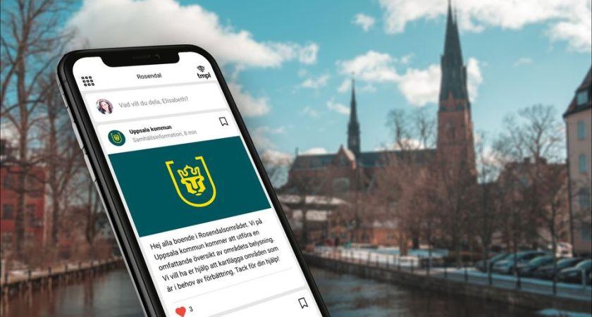 Uppsala kommun berättar om byggstök i boappar