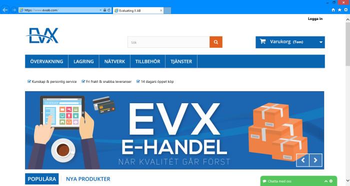EVX e-handel tar greppet om säkerhet och övervakning!