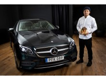Mercedes öppnar popup med Sayan Isaksson