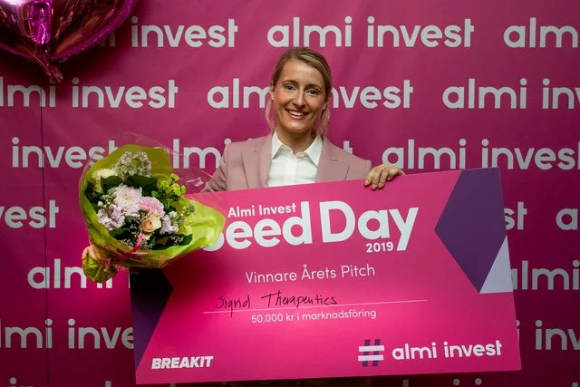 Sigrid Therapeutics och MIPS fick pris på Almi Invest Seed Day