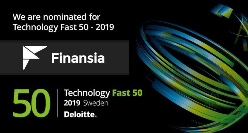 Finansia utsett till ett av Sveriges snabbast växande teknikföretag