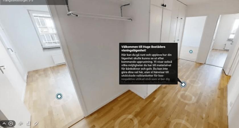 Virtuell lägenhet gör visningen coronasäker