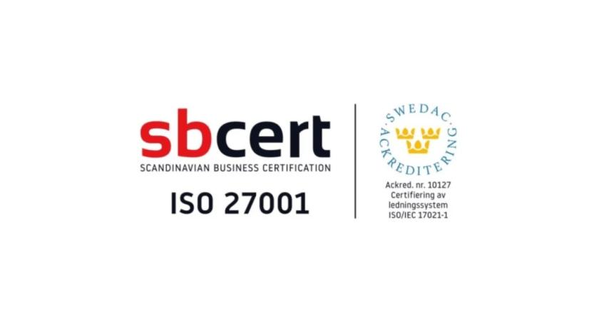Vilja är ISO 27001 certifierade och har uppnått den högsta klassificeringen av informationssäkerhet