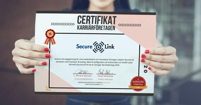 SecureLink är ett av Sveriges Karriärföretag även 2020!