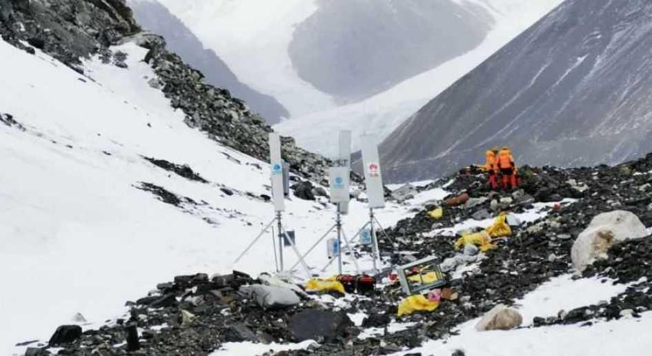 Huawei och China Mobile installerar 5G-nät på Mount Everest 1