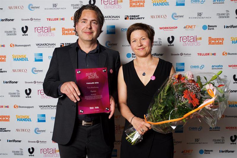 Apotea får priset Årets Tillväxtföretag av Svensk Handel