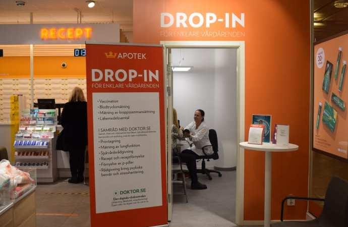 Testa Drop in-vård på Vitalis med Kronans Apotek och Doktor.se