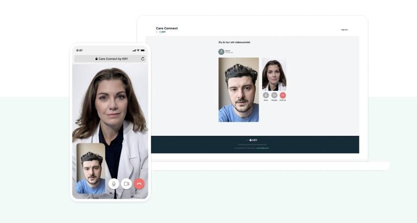 KRY lanserar gratis plattform för att koppla ihop vårdpersonal med patienter på distans