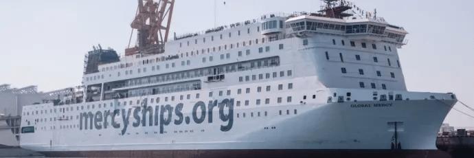 I-Techs Selektope skyddar Mercy Ships nya sjukhusfartyg, som Stena RoRo projektleder