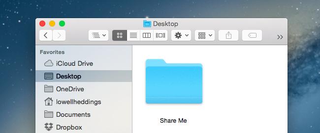 Расшаривание папки OS X