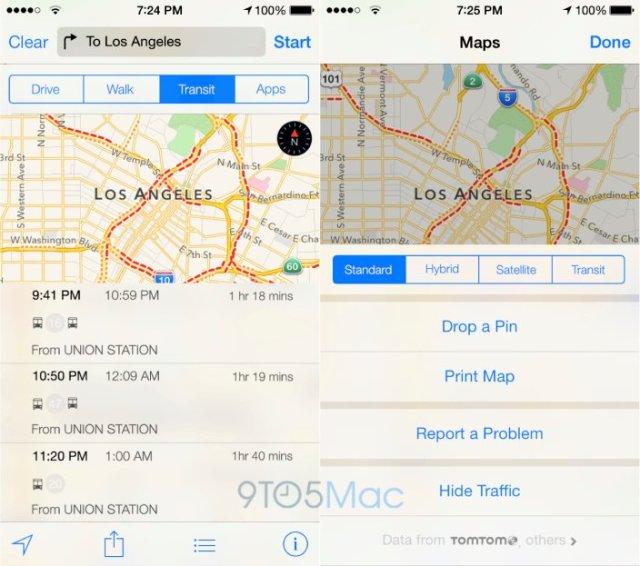карты транспорта Apple