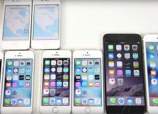 Скорость iOS 9 и iOS 8.4.1