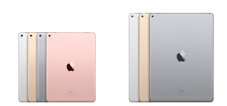 Сравнение iPad Pro 9.7 с iPad Pro 12.9