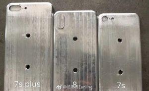 Предполагаемые заготовки iPhone 8, iPhone 7s и iPhone 7s Plus просочились в сеть