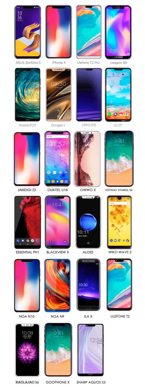 Клоны iPhone X