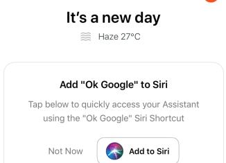 Google-Siri-Shortcut