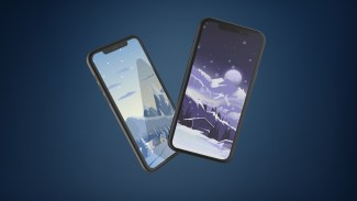 snowy-illustration-iphone-wallpaper-ongliong11-mock-up
