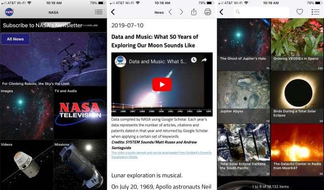 NASA-app-on-iPhone