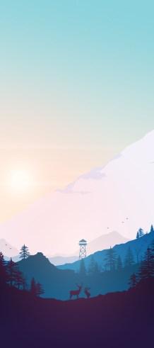 mountain-valley-iphone-wallpaper-axellvak-sunset-deer