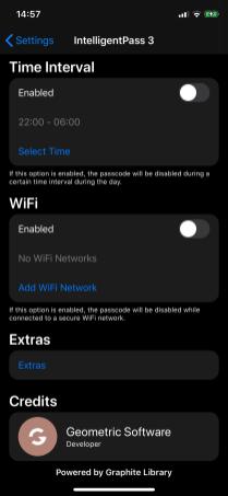 Настройки твика IntelligentPass 3