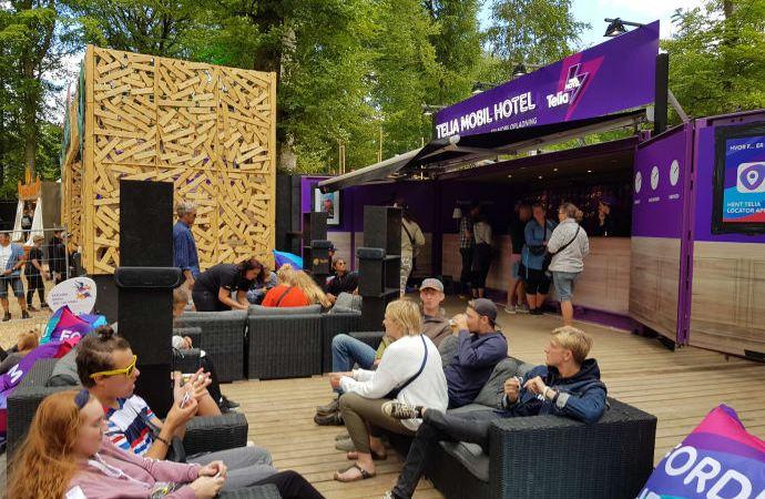 Telia sender en karavane af mobilmaster till åreets smukfest