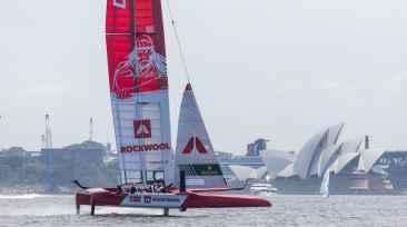 Holger Danske rejser sig, når Denmark SailGP Team skal sejle i Sydney 1