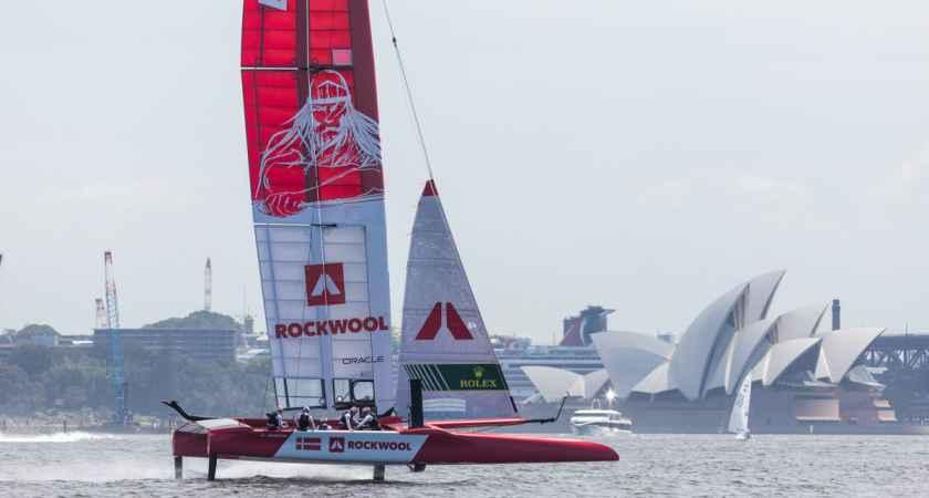 Holger Danske rejser sig, når Denmark SailGP Team skal sejle i Sydney