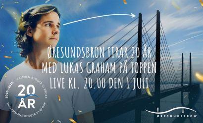 Lukas Graham spelar på toppen av Øresundsbron 1