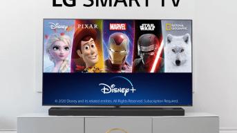 Disney+ er nu tilgængelig på alle kompatible LG fjernsyn i Norden 1