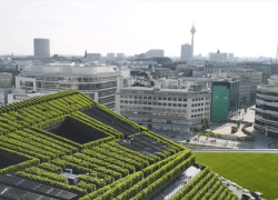Europas grønneste facade ligger i Düsseldorf