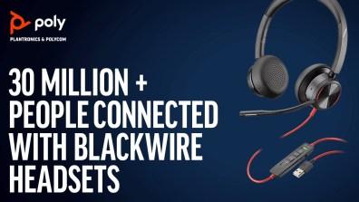 Poly har solgt 30 millioner Blackwire-headsets