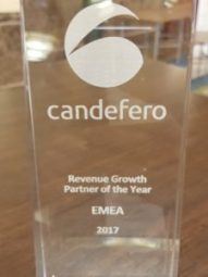Infotheek vinner Candefero Channel Partner Award 1