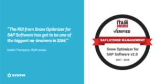 Snow Software tilldelas ITAM Review's SAP License Management Certification 1