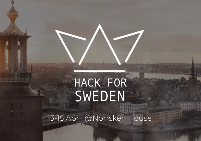 Hack for Sweden öppnar portarna 13 april!