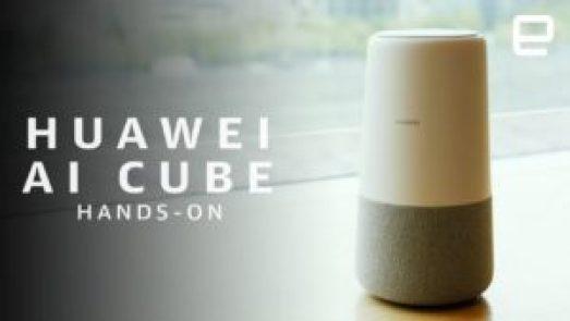 Huawei presenterar smarta högtalaren AI Cube med Alexa 1