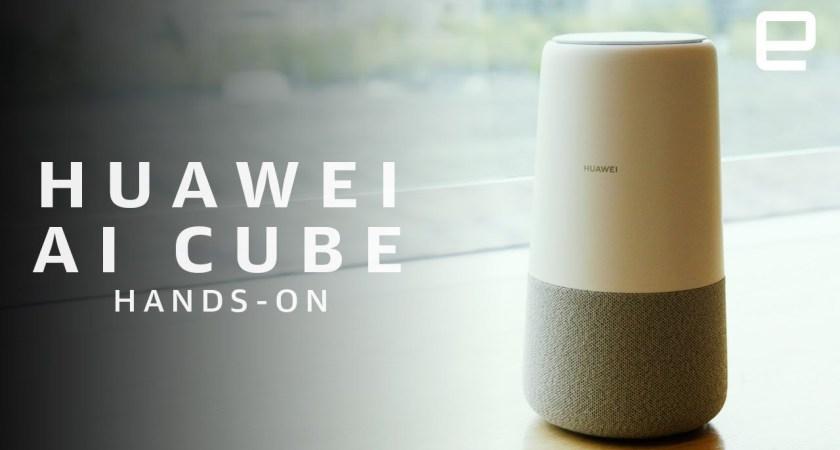 Huawei presenterar smarta högtalaren AI Cube med Alexa