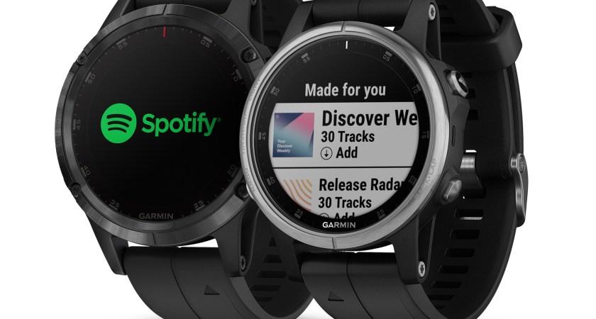 Garmin presenterar integration med Spotify.